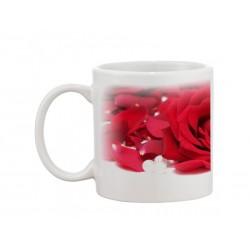 Biely hrnček - Symbol Ruža - Panoráma