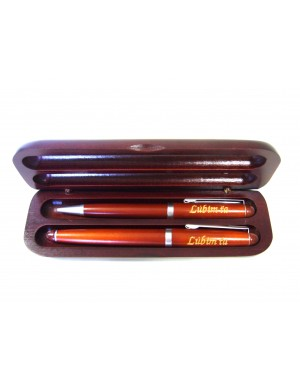 Gravírované drevené perá - Morené
