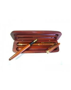 Gravírované drevené perá - Morené 2