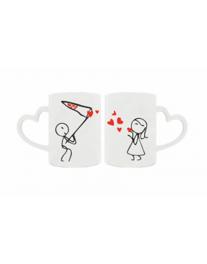 Valentínsky hrnček - Srdcia