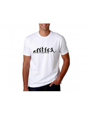 Vtipné tričko - Evolúcia - Futbalista