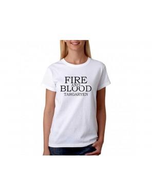 Vtipné tričko - Fire and Blood - Dámske