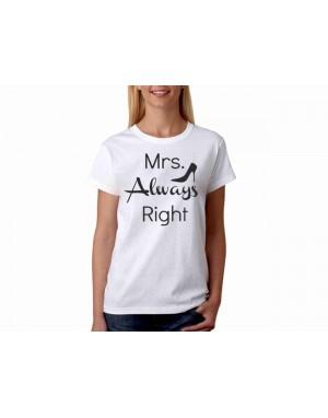 Vtipné tričko - Mrs. Always...