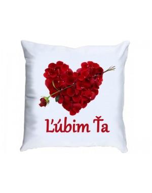 Vankúš - Ľúbim ťa - Ruža